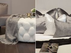 Detail of ottoman and cushions   JHR Interiors