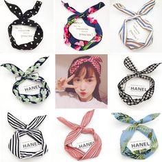 Fashion DIY princess Rabbit Hair band Women Girls flower headband hair Accessories For Women Head band Headwear scrunchie Turban Review