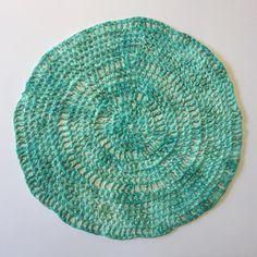🌎 Día Mundial de la Tierra 🌎 . . . Tejido a Crochet con hilado de bolsas plásticas ♻️. Color con pintura acrílica. 2017. 25 x 25 cm. Foto… Textiles, Rugs, Instagram, Decor, Pintura, Plastic Bags, Spinning, Earth, Artists