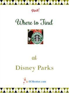 Travel Guide to Finding Starbucks at Disney Resorts #DisneySMMoms