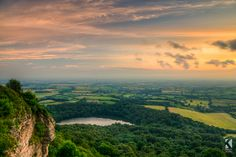 The sunset from Sutton Bank