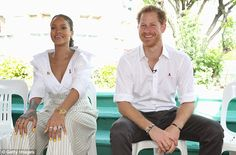 Prince Harry and pop superstar Rihanna take a HIV test together in Barbados on World Aids Day | Daily Mail Online