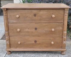 Chest of Drawers Raw Wood Furniture, Antique Pine Furniture, Pine Bedroom Furniture, Diy Home Furniture, Furniture Update, Furniture Legs, Upcycled Furniture, Dollhouse Furniture, Vintage Furniture