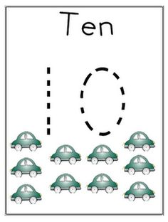 Car counting cards! Use toy cars to drive around the numbers! Free Printable!