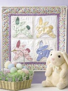 Vintage Bunnies Wall Quilt