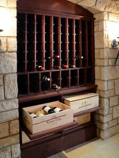 Traditional Wine Cellar Design, Pictures, Remodel, Decor and Ideas - page 5 Wine Rack Design, Wine Cellar Design, Tasting Room, Wine Tasting, Caves, Wooden Wine Crates, Home Wine Cellars, Wine Decor, Wine Case