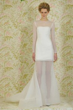 Sheer lattice Angel Sanchez wedding dress