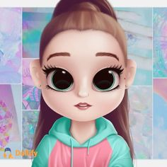 Kawaii Girl Drawings, Cute Disney Drawings, Cute Little Drawings, Cute Girl Drawing, Cartoon Girl Drawing, Cartoon Drawings, Cute Drawings, Arte Do Kawaii, Cute Disney Pictures