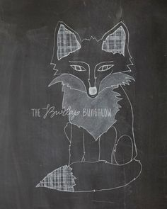 Plaid Fox, Fall Chalkboard Printable by The Burlap Bungalow on etsy.