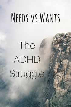 What a Girl Wants vs Needs – The ADHD Struggle ⋆ Happy Hyper Shiny When you have ADHD, there are days when the things you want to do overrides the things that you need. Adhd Odd, Adhd And Autism, What's Adhd, Needs Vs Wants, Adhd Help, Adhd Diet, Adhd Brain, Adhd Strategies, Adult Adhd