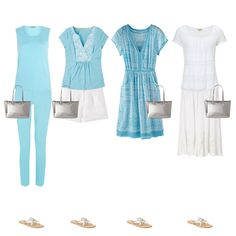 Holiday capsule wardrobe example one piece of luggage 17 outfits