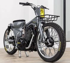 engine in a scooter. - Meet 'Bad Dad' the latest crazy creation. Scrambler Motorcycle, Moto Bike, Motorcycle Art, Motorcycle Design, Bike Design, Classic Motorcycle, Tracker Motorcycle, Honda Cub, Honda Bikes