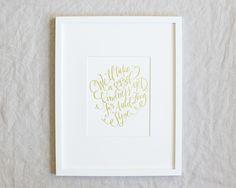 #lindsayletters Auld Lang Syne Print