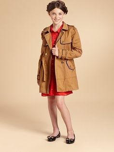 Juicy Couture - Girl's Classic Trench Coat, $30