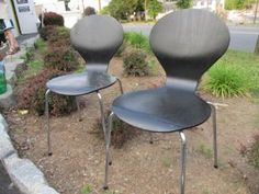 New York: Chairs, set of two vintage DANISH - not Ikea $150 - http://furnishlyst.com/listings/255429