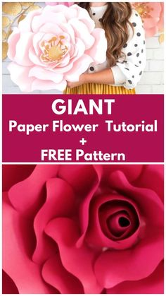 DIY Giant Paper Flower Tutorial Learn How to Create Stunning Oversized Paper Flowers from Cardstock Using FREE SVG Files. Cut them by hand or with a Smart Cutting Machine. I'll teach you everything from creating a flower center to making Free Paper Flower Templates, Paper Flower Patterns, Paper Flower Tutorial, Big Paper Flowers, Paper Flower Wall, Giant Paper Flowers, Diy Wall Flowers, Diy Paper Roses, Making Tissue Paper Flowers