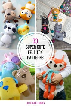These felt toy patterns are adorable! Thanks for sharing!