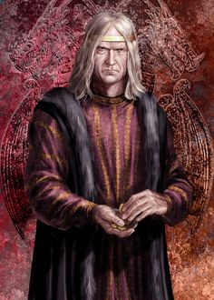 """King Viserys II Targaryen by Amok. """"He poisoned his own nephew to gain the throne and then did nothing once he had it."""" """"Baelor starved himself to death, fasting. His uncle served him loyally as Hand, as he had served the Young Dragon before him. Viserys might only have reigned a year, but he ruled for fifteen, while Daeron warred and Baelor prayed."""""""