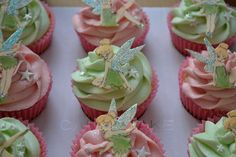 Tinkerbell Cupcakes | Tinkerbell Cupcakes close up1 | Flickr - Photo Sharing!