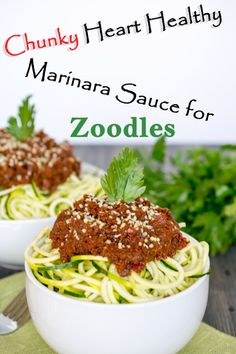 Chunky Heart-Healthy Marinara for Zoodles