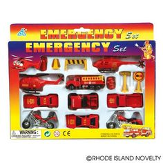 15 PC DIECAST FIRE TEAM SET