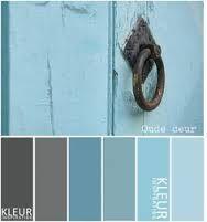 Afbeeldingsresultaat voor grijze boxspring blauwe muur