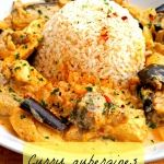 Curry poulet aubergine