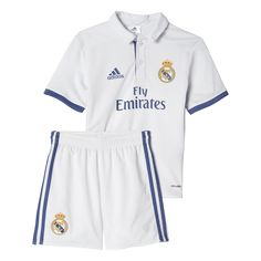 1e769b8bc7362 adidas Infant Real Madrid Home Mini Kit Crystal White Raw Purple