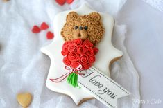 Saint Valentine's Teddy Bear | Cookie Connection