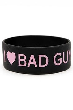 Rubber Bracelets For Mens : Falling In Reverse I (Heart) Bad Guys Rubber Bracelet Rubber Bracelets, Bracelets For Men, Bracelet Men, Band Outfits, Emo Outfits, Band Merch, Band Tees, Liberian Girl, Rock Style