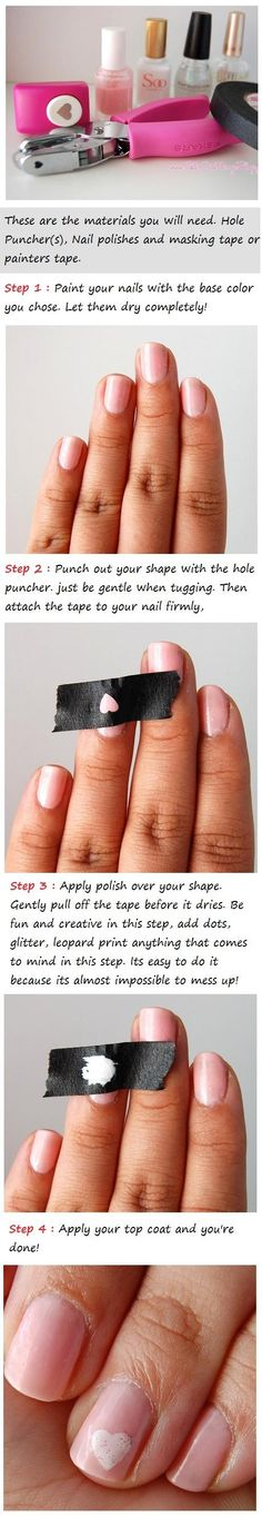 How to make a heart on your nails...