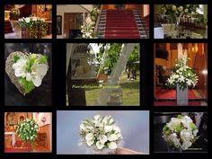 Inspiración para bodas en blanco y verde por floristeriamarques.com
