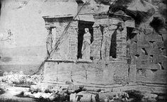 Καρυάτιδες, 1842 Greek History, Acropolis, Athens Greece, Back In Time, Ancient Greek, Historical Photos, Old Photos, Architecture Design, The Past