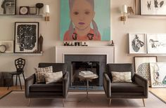 """Amie's tip:""""Beige is a warm alternative to white. I would call the color beige a warm gray. It has the ability to brighten a room without competing.""""    Amie used:November Rain by Benjamin Moore"""