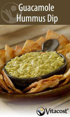 Guacamole hummus dip #recipe #healthy #snack