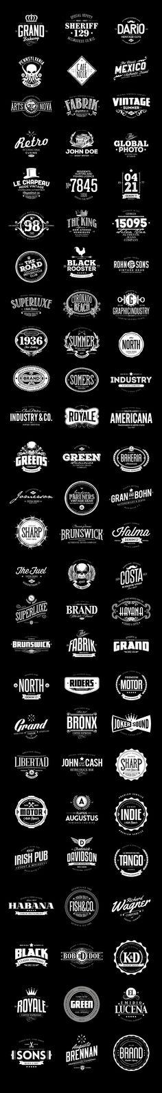 78 Badges & Logos Bundle on Behance