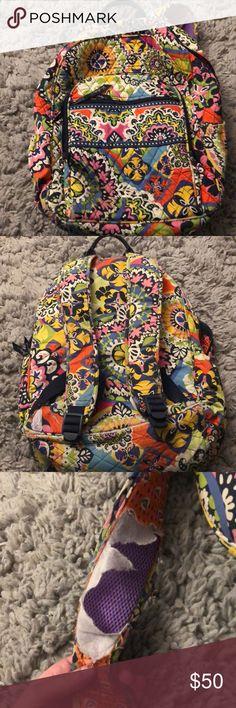 Vera Bradley backpack Multi color slight wear and tear book bag Vera Bradley Bags Backpacks