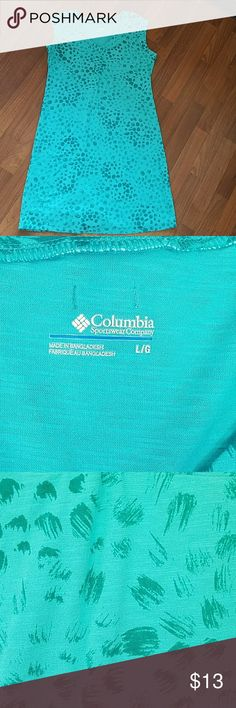 Comfy & casual teal blue Columbia dress size L Pretty & comfy Columbia dress in a teal blue color.  Size L & in great used condition! Feels like wearing your favorite t-shirt...but it's a cute dress.😊👕 Columbia Dresses