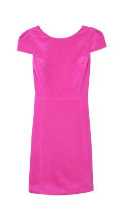 Tibi - Solid Silk Cap Sleeve Dress