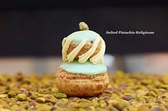 Worth a trip to New York to visit Dominuque Ansel Bakery in Soho. Home of the #cronut and other incredible desserts like this salted pistachio religieuse #yum