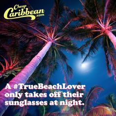 A #TrueBeachLover knows the Jack Nicholson permashades look is non-negotiable. #CheapCaribbean #TrueBeachLover