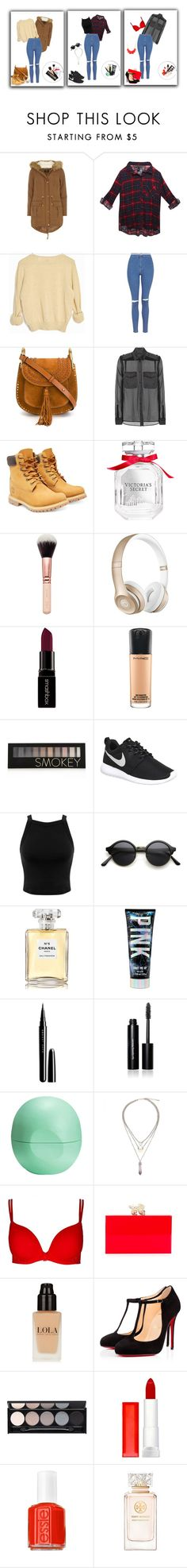 """""""Untitled #16"""" by smajicelma ❤ liked on Polyvore featuring Dorothy Perkins, Wet Seal, Topshop, Chloé, Tom Ford, Timberland, Victoria's Secret, Beats by Dr. Dre, Smashbox and MAC Cosmetics"""