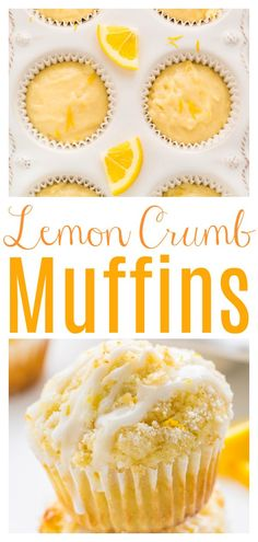 Lemon Desserts, Lemon Recipes, No Bake Desserts, Healthy Desserts, Just Desserts, Muffin Recipes, Baking Recipes, Keks Dessert, Simple Muffin Recipe