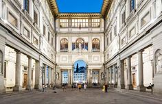 The Uffizi Gallery, with the courtyard shown here, is appreciated for not only t... - Gianni Cipriano for The New York Times