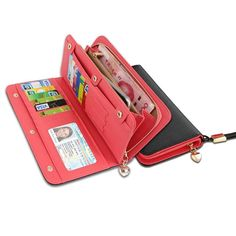 20.72$  Watch now - http://vihfa.justgood.pw/vig/item.php?t=j8miz301889 - KQueenStar Women Lady Leather Wallet Purse Credit Card Clutch Holder Case With W
