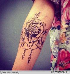 rose tattoo rose dream catcher #tattoo #rose