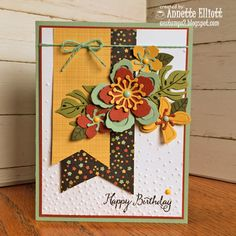 SSC#120: Happy Birthday Blooms by AEstamps2 - Cards and Paper Crafts at Splitcoaststampers