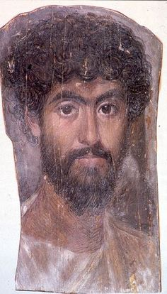 Fayum✋Mummy portraits or Fayum mummy portraits is the modern term given to a type of naturalistic painted portraits on wooden boards dated 50 - 300 CE ✋Roman ArtMore Pins Like This At FOSTERGINGER @ Pinterest✋