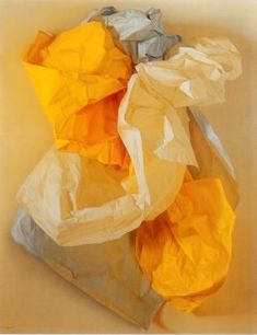 yellow - papers - still life - Claudio Bravo - painting - realism Yellow Art, Mellow Yellow, Pablo Picasso, Claudio Bravo, Classical Realism, Still Life Drawing, Art For Art Sake, Art Auction, Painting Inspiration