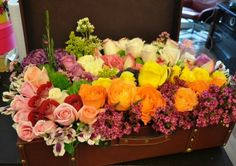 New York is an extravagent and huge selection of bright colour roses. Just like the name, brighten up the day with this selection that gives you the feeling of falling in love in a city full of lights. The Selection, Floral Wreath, Roses, New York, Bright, Wreaths, City, Fall, Plants